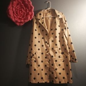 Polka dotted raincoat
